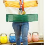 Anshu with International Medals